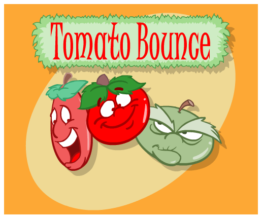 Tomato Bounce game screenshot